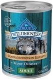 Blue Buffalo BLUE Wilderness Wet Dog Food Rocky Mountain Recipe, Trout, 12.5 oz, 12 Pack