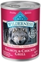 Blue Buffalo BLUE Wilderness Wet Dog Food, Salmon & Chicken Grill, 12.5 oz, 12 Pack