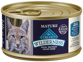 Blue Buffalo BLUE Wilderness Wet Mature Cat Food, Chicken, 3 oz, 24 Pack