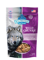 Blue Buffalo BLUE Wilderness Wild Bites Dog Treats,Beef Liver, 2.25 oz