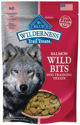 Blue Buffalo BLUE Wilderness Wild Bits Dog Training Treats,Salmon, 4 oz