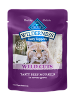 Blue Buffalo BLUE Wilderness Wild Cuts for Cats, Beef & Gravy, 3 oz, 24 Pack