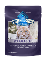 Blue Buffalo BLUE Wilderness Wild Cuts for Cats, Chicken & Gravy, 3 oz, 24 Pack