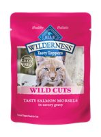Blue Buffalo BLUE Wilderness Wild Cuts for Cats, Salmon & Gravy, 3 oz, 24 Pack