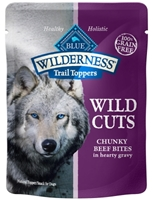 Blue Buffalo BLUE Wilderness Wild Cuts for Dogs, Beef & Gravy, 3 oz, 24 Pack