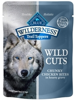 Blue Buffalo BLUE Wilderness Wild Cuts for Dogs, Chicken & Gravy, 3 oz, 24 Pack