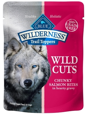 Blue Buffalo BLUE Wilderness Wild Cuts for Dogs, Salmon & Gravy, 3 oz, 24 Pack
