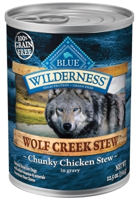 Blue Buffalo BLUE Wilderness Wolf Creek Stew, Chunky Chicken Stew, 12.5 oz, 12 Pack