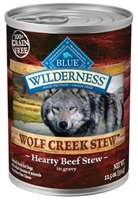 Blue Buffalo BLUE Wilderness Wolf Creek Stew, Hearty Beef Stew, 12.5 oz, 12 Pack