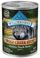 Blue Buffalo BLUE Wilderness Wolf Creek Stew, Hearty Duck Stew, 12.5 oz, 12 Pack