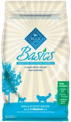 Blue Buffalo Dry Cat Food Basics, Fish & Potato, 11 lbs