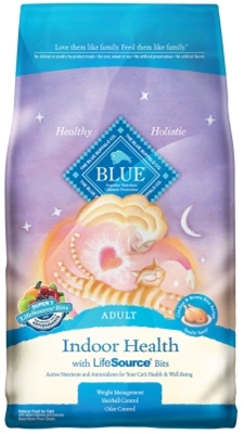 Blue Buffalo Dry Cat Food Indoor Health Adult Hairball Recipe, Chicken & Rice, 3 lbs