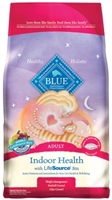 Blue Buffalo Dry Cat Food Indoor Health Adult Recipe, Salmon & Rice, 7 lbs