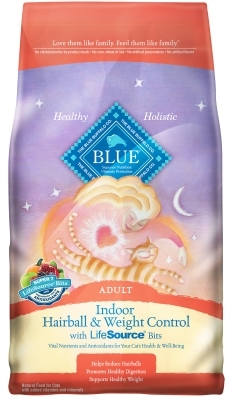 Blue Buffalo Dry Cat Food Indoor Health Senior Hairball and Weight Control, Chicken & Rice, 3 lbs