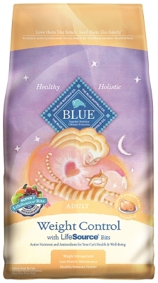 Blue Buffalo Dry Cat Food Weight Control Adult Recipe, Chicken & Rice, 15 lbs