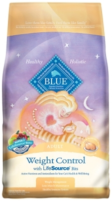 Blue Buffalo Dry Cat Food Weight Control Adult Recipe, Chicken & Rice, 7 lbs
