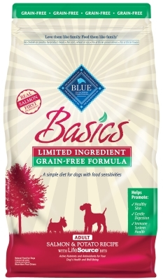 Blue Buffalo Dry Dog Food Basics Grain,Free Adult Recipe, Salmon & Potato, 22 lbs