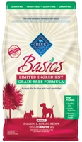 Blue Buffalo Dry Dog Food Basics Grain,Free Adult Recipe, Salmon & Potato, 4 lbs