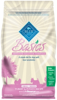 Blue Buffalo Dry Dog Food Basics Small Breed Recipe, Turkey & Potato, 4 lbs