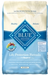 Blue Buffalo Dry Dog Food Life Protection Dog Food Formula Puppy Recipe, Chicken & Rice, 30 lbs