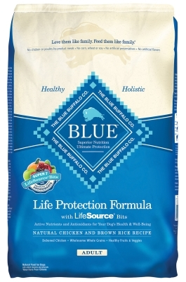 Blue Buffalo Dry Dog Food Life Protection Formula Adult Recipe, Chicken & Rice, 30 lbs