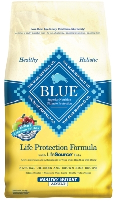 Blue Buffalo Dry Dog Food Life Protection Formula Healthy Weight Recipe, Chicken & Rice, 6 lbs