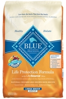 Blue Buffalo Dry Dog Food Life Protection Formula Large Breed Adult Recipe, Chicken & Rice, 30 lbs
