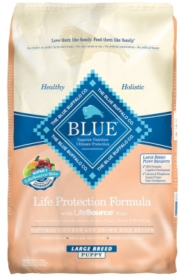 Blue Buffalo Dry Dog Food Life Protection Formula Large Breed Puppy Recipe, Chicken & Rice, 15 lbs