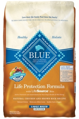 Blue Buffalo Dry Dog Food Life Protection Formula Large Breed Senior Recipe, Chicken & Rice, 30 lbs