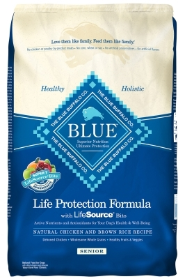 Blue Buffalo Dry Dog Food Life Protection Formula Senior Recipe, Chicken & Rice, 30 lbs