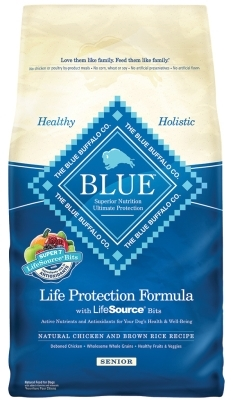 Blue Buffalo Dry Dog Food Life Protection Formula Senior Recipe, Chicken & Rice, 6 lbs
