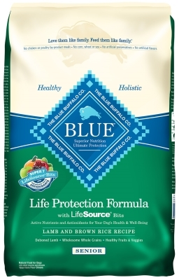 Blue Buffalo Dry Dog Food Life Protection Formula Senior Recipe, Lamb & Rice, 15 lbs