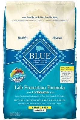 Blue Buffalo Dry Dog Food Life Protection Formula Small Bite Adult Recipe, Chicken & Rice, 15 lbs
