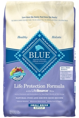 Blue Buffalo Dry Dog Food Life Protection Formula Small Breed Adult Recipe, Fish & Rice, 15 lbs