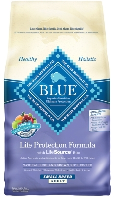 Blue Buffalo Dry Dog Food Life Protection Formula Small Breed Adult Recipe, Fish & Rice, 6 lbs