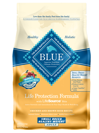 Blue Buffalo Dry Dog Food Life Protection Formula Small Breed Healthy Weight Recipe, Chicken & Rice, 15 lbs