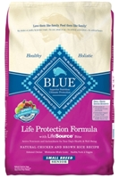 Blue Buffalo Dry Dog Food Life Protection Formula Small Breed Senior Recipe, Chicken & Rice, 15 lbs