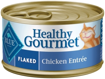 Blue Buffalo Healthy Gourmet Wet Cat Food, Flaked Chicken, 5.5 oz, 24 Pack
