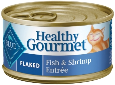 Blue Buffalo Healthy Gourmet Wet Cat Food, Flaked Fish & Shrimp, 3 oz, 24 Pack