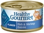 Blue Buffalo Healthy Gourmet Wet Cat Food, Flaked Fish & Shrimp, 5.5 oz, 24 Pack