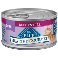 Blue Buffalo Healthy Gourmet Wet Cat Food, Grilled Beef, 3 oz, 24 Pack