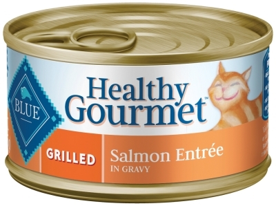 Blue Buffalo Healthy Gourmet Wet Cat Food, Grilled Salmon, 3 oz, 24 Pack
