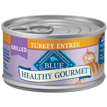 Blue Buffalo Healthy Gourmet Wet Cat Food, Grilled Turkey, 3 oz, 24 Pack