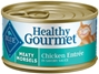 Blue Buffalo Healthy Gourmet Wet Cat Food, Meaty Morsels Chicken, 3 oz, 24 Pack