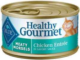 Blue Buffalo Healthy Gourmet Wet Cat Food, Meaty Morsels Chicken, 5.5 oz, 24 Pack