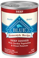 Blue Buffalo Homestyle Wet Dog Food, Beef, Vegetables & Sweet Potatoes, 12.5 oz, 12 Pack
