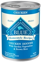 Blue Buffalo Homestyle Wet Dog Food, Chicken, Vegetables & Rice, 12.5 oz, 12 Pack