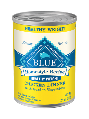 Blue Buffalo Homestyle Wet Dog Food Healthy Weight Recipe, Chicken, 12.5 oz, 12 Pack