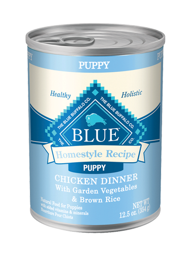 Blue Buffalo Homestyle Wet Dog Food Puppy Recipe, Chicken, Vegetables & Rice, 12.5 oz, 12 Pack