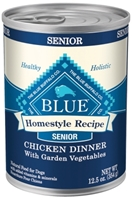 Blue Buffalo Homestyle Wet Dog Food Senior Recipe, Chicken, 12.5 oz, 12 Pack